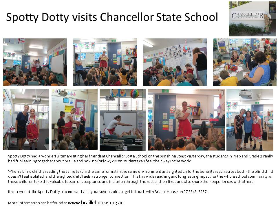 Spotty Dotty visits Chancellor State School
