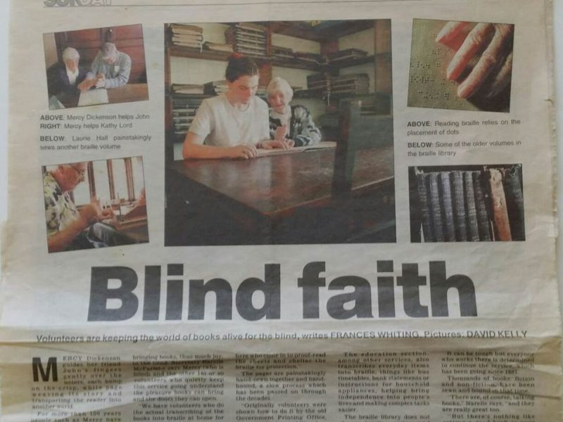 Blind Faith – The Sunday Mail 24 October 1999