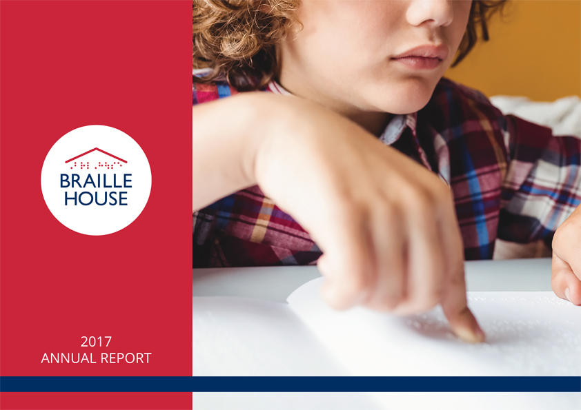 Cover of the Braille House 2017 Annual Report
