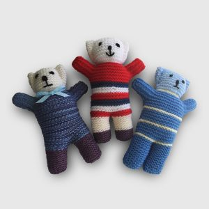 Hand knitted teddy bears