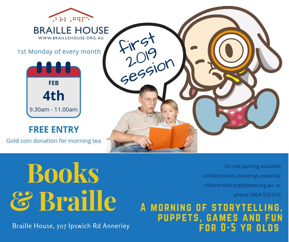 Books and Braille is back for 2019