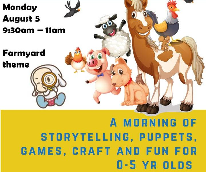 August 5 Books and Braille theme is FARMYARD
