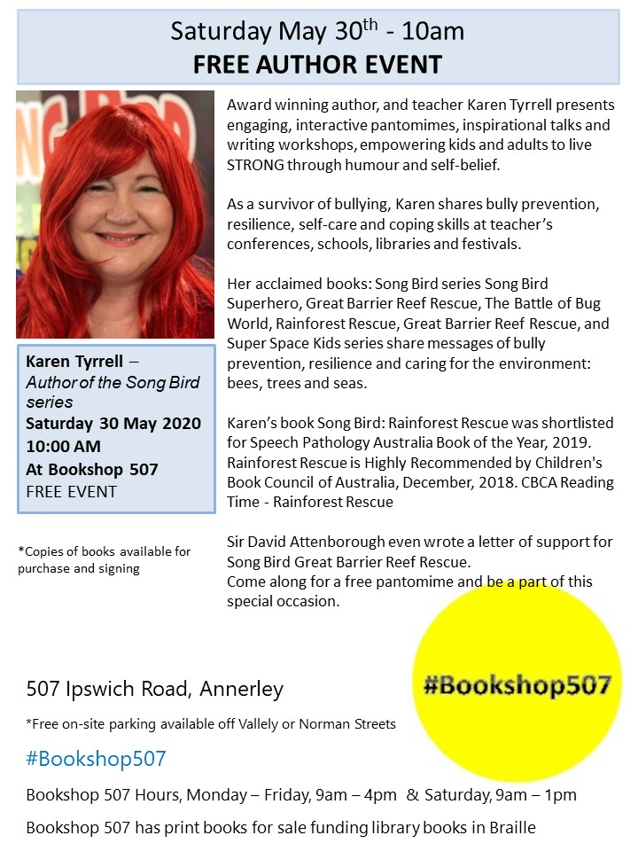 Karen Tyrell Author event flyer