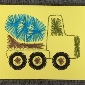 Constuction Cement Mixer Greeting Card