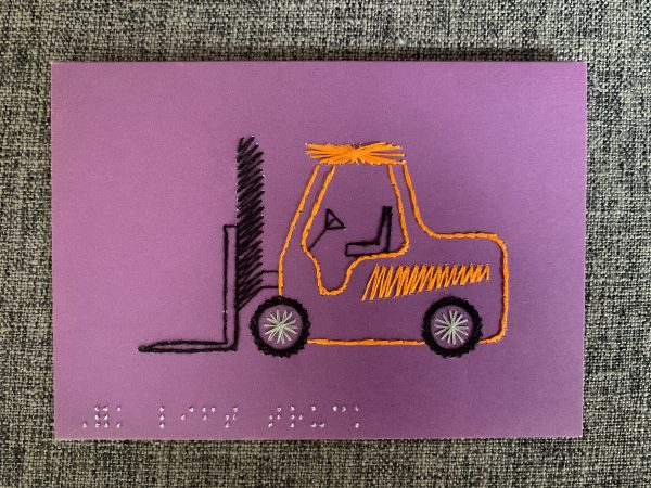 Construction Fork Lift Greeting Card