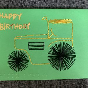 Construction Steam Roller Birthday Card