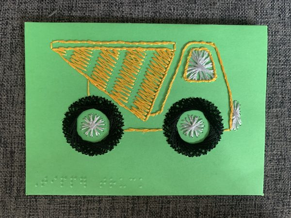 Construction Tip Truck Greeting Card