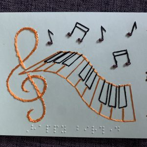 Music Keyboard Birthday Card