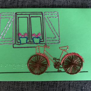 Window & Bicycle Greeting Card