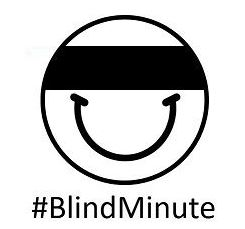 #Blindminute, picture is a smiley face with a blindfold